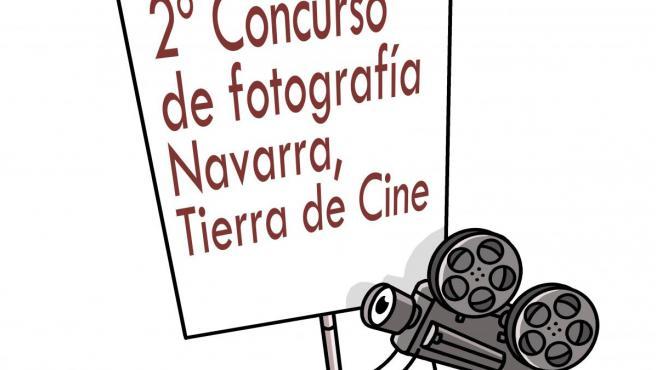 Cartel del II Concurso de fotografías 'Navarra, Tierra de Cine'