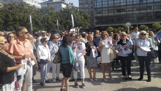 Concentración en A Coruña por la desaparición del joven en Ortigueira el pasado mes de julio