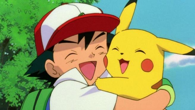 Ash y Pikachu en un capítulo del longevo anime 'Pokémon'.