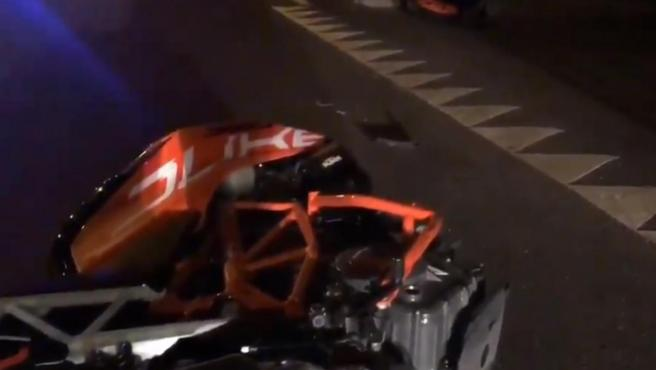 Accidente de moto en Madrid.