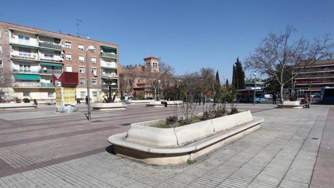 Plaza de los Misterios, en el distrito de Ciudad Lineal.