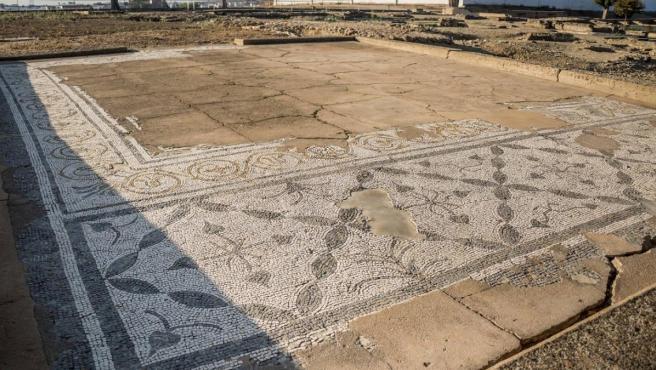 Unos de los mosaicos de la Casa del Patio Rodio