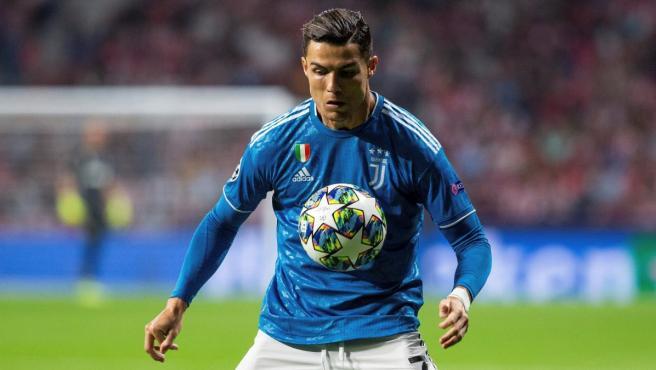 Cristiano Ronaldo, durante el Atlético de Madrid-Juventus.