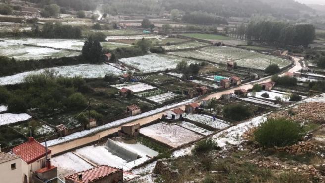 Granizo en Vilafranca (Castellón).