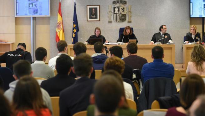 <p>Juicio a los ocho acusados por la agresión en 2016 en Alsasua (Navarra) a agentes de la Guardia Civil.</p>