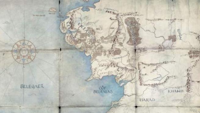 Mapa publicado por Amazon de la Segunda Edad, posible escenario de la serie del 'Señor de los Anillos'.