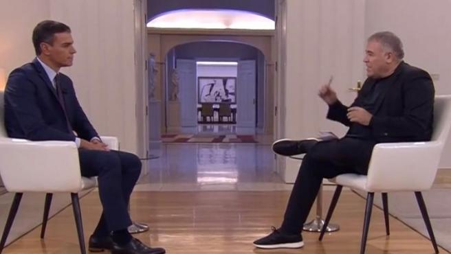 El presidente del Gobierno, Pedro Sánchez, durante su entrevista en la Sexta.