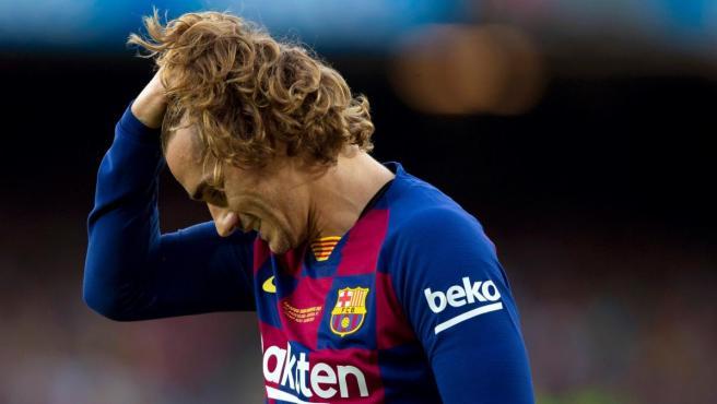 Antoine Griezmann, durante un partido del Barcelona.