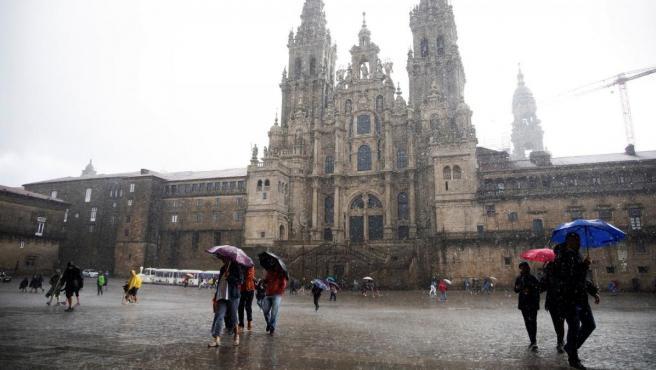 Avisos por lluvia en Galicia.