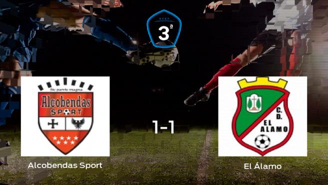 Reparto de puntos entre el Alcobendas Sport y El Álamo (1-1)