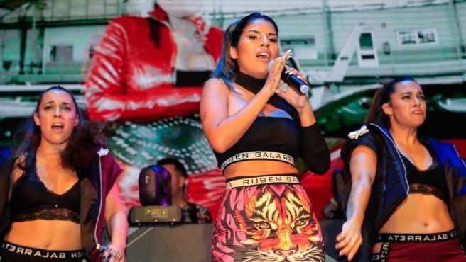 Isa Pantoja, en su concierto de presentación oficial de su single 'Ahora estoy mejor'.