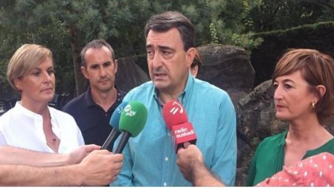 El portavoz del PNV en el Congreso de los Diputados, Aitor Esteban, en Artea (Bizkaia).