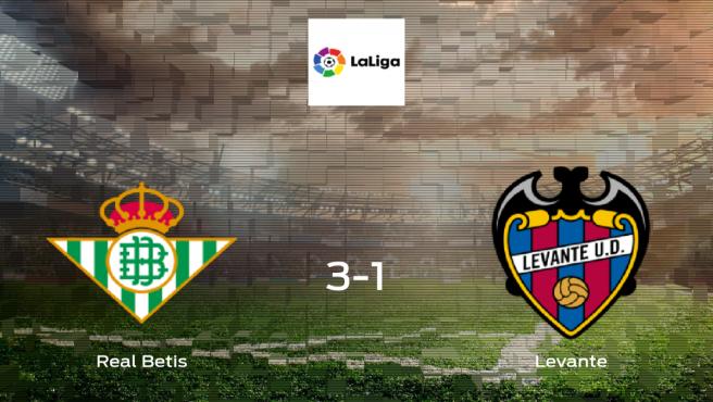Los tres puntos se quedan en casa tras la victoria del Real Betis ante el Levante (3-1)