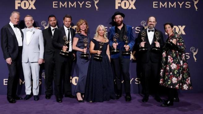 El equipo y los actores de 'Chernobyl', la producción de HBO ganadora del premio Emmy 2019 a la mejor serie limitada.