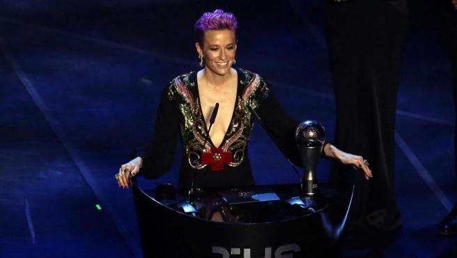 Megan Rapinoe pronunció un emotivo discurso tras ganar el The Best a la mejor jugadora.