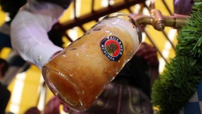 Una cerveza en el Oktoberfest.