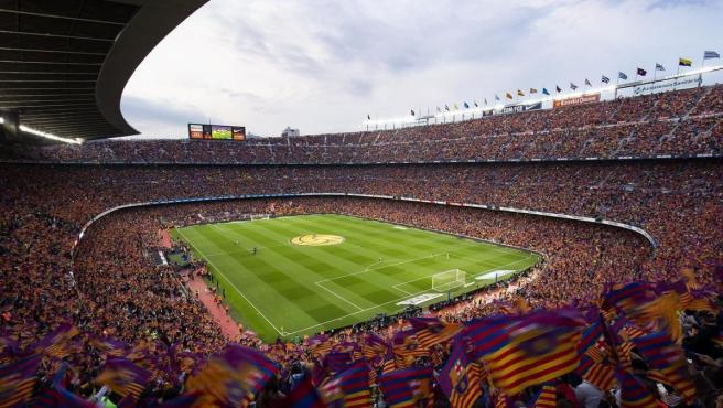 Día de partido en el Camp Nou, estadio del FC Barcelona.
