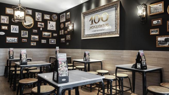 Imagen de recurso de un restaurante de 100 Montaditos, de Restalia