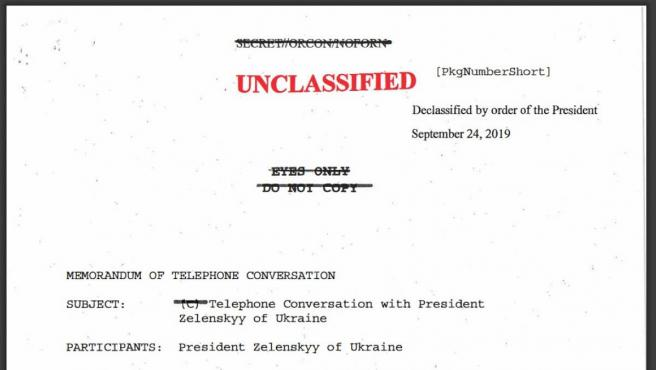 Transcripción llamada de Trump a Zelenski
