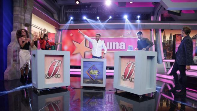 Rosario Flores, Vanesa Martín, Melendi y David Bisbal, en 'El hormiguero'.