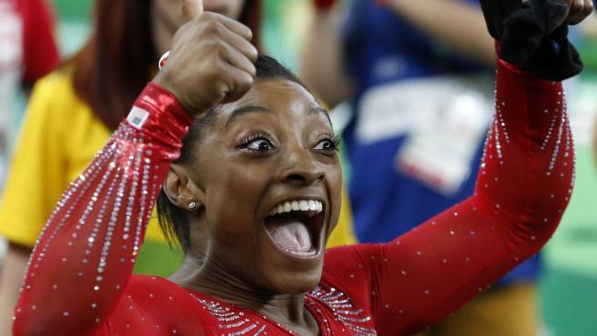 Simone Biles, durante los Juegos de Río 2016.