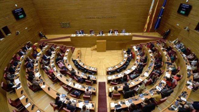 Pleno de Las Corts Valencianes, en imagen de archivo.