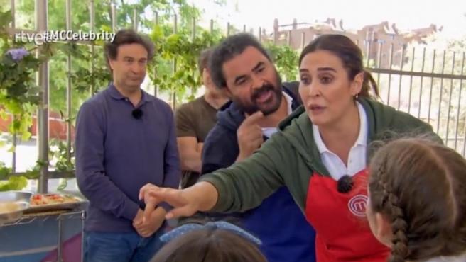 El Sevilla y Vicky Martín Berrocal discuten en MasterChef Celebrity 4'.