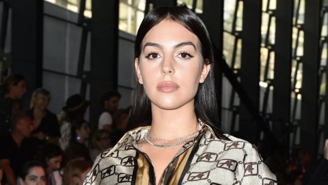 Georgina Rodríguez durante la Fashion Week de Milán.