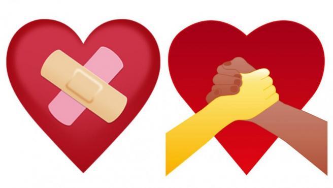 Dos de los emojis del perdón que proponen las asociaciones finlandesas.