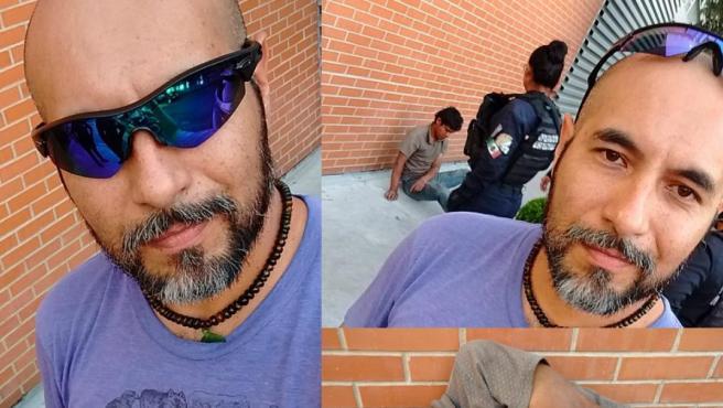 El selfie del hombre que dejó KO al ladrón que intentó robarle la bicicleta.