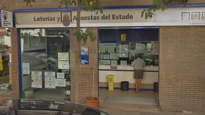Imagen de la administración de Lotería de la calle Zurbano de Madrid.