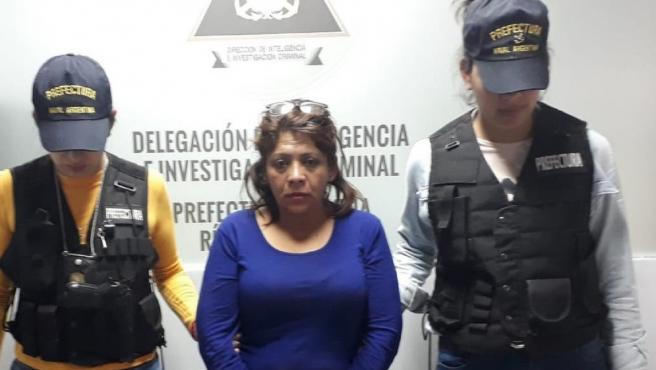Imagen de Patricia Mabel López detenida.