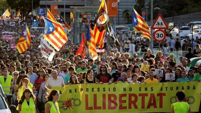 Manifestación para exigir la libertad de los CDR detenidos por terrorismo.