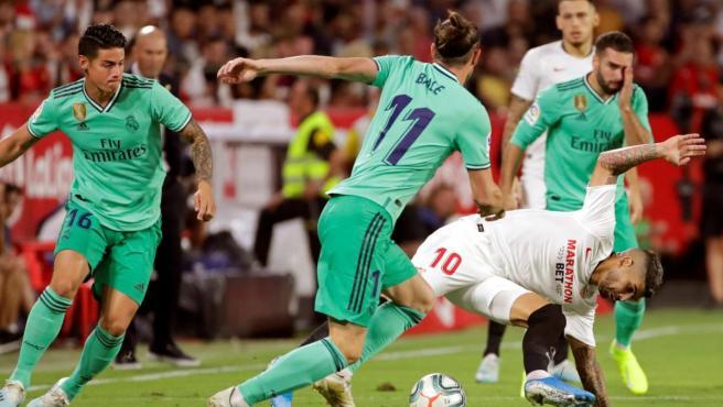 Un lance del Sevilla - Real Madrid de la quinta jornada de LaLiga.