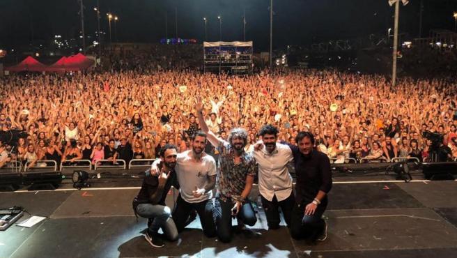 El grupo IZAL en un concierto en Barcelona.