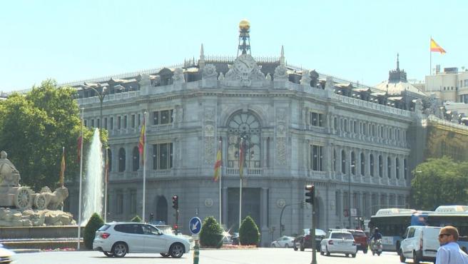 El Banco de España, en la plaza de Cibeles de Madrid.