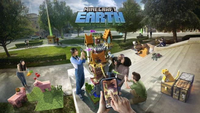 'Minecraft Earth' es un videojuego de realidad aumentada, al estilo 'Pokémon GO', para móviles.