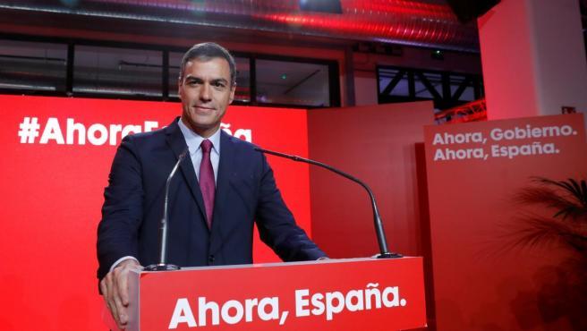 El secretario general del PSOE y presidente del Gobierno en funciones, Pedro Sánchez.