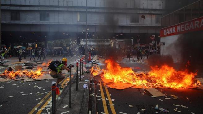 Protestas contra el Gobierno en Hong Kong.