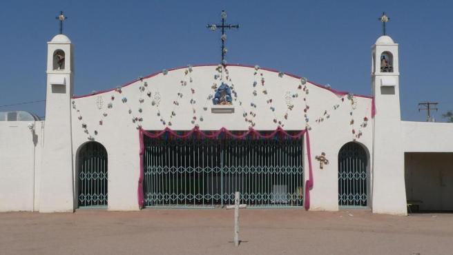 Capilla en Pascua Yaqui, Arizona (EE UU).