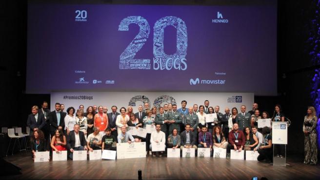 Los premiados de la XIII edición de los Premios 20blogs.