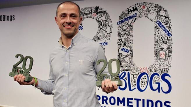 Rubén García, ganador de la XIII edición de los Premios 20blogs por '¡O Cesar o Nada!'.