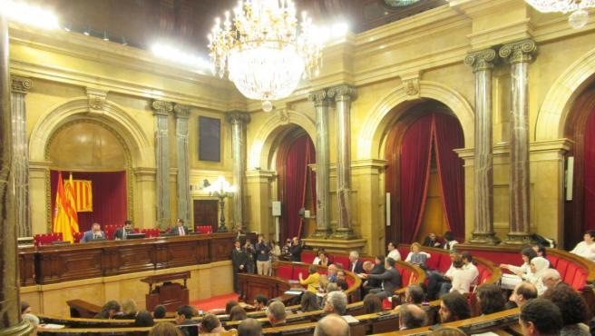 El Parlament de Cataluña.