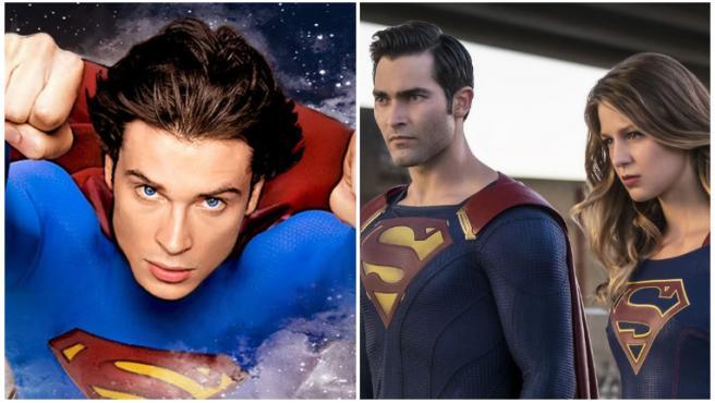 'Crisis en Tierras Infinitas': Tom Welling se encuentra con el Superman y la Lois Lane de 'Supergirl' en una nueva fotografía