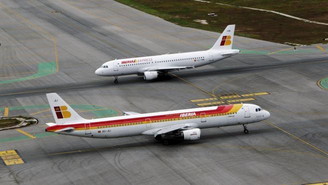Aviones de Iberia.