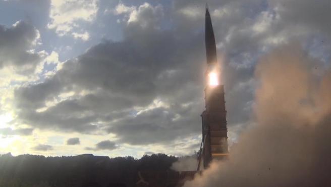 Lanzamiento de un misil balístico, en una imagen de archivo.