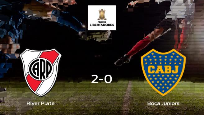 Victoria del River Plate frente al Boca Juniors en su primer duelo de semifinales (2-0)