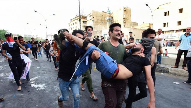 Protestas en Bagdad.