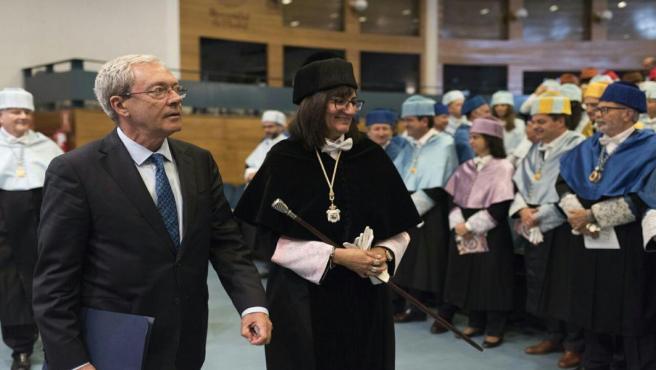 La rectora de la Universidad de Huelva, María Antonia Peña, en el acto de apertura del nuevo curso académico.