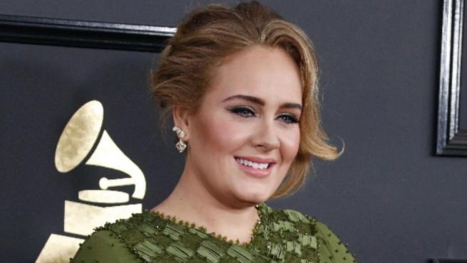 La cantante Adele, en los Grammy 2017.